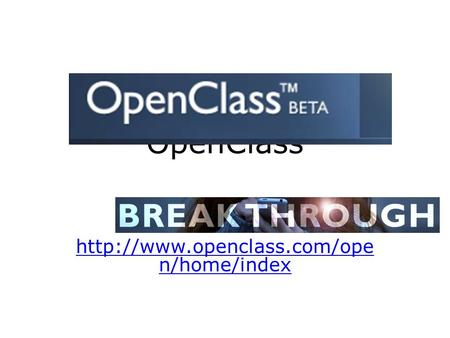 OpenClass  n/home/index.