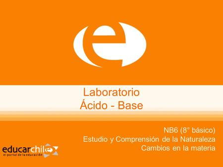 Laboratorio Ácido - Base