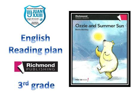 English Reading plan 3rd grade.