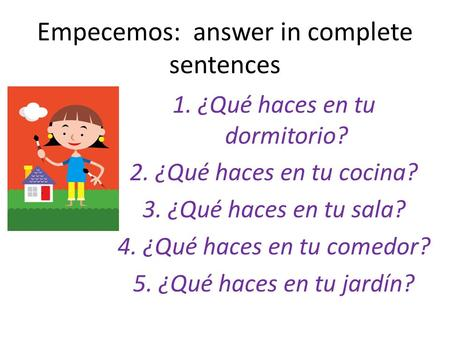 Empecemos Answers
