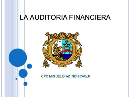 LA AUDITORIA FINANCIERA