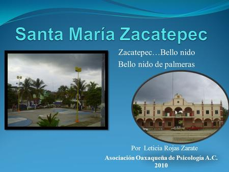 Zacatepec…Bello nido Bello nido de palmeras
