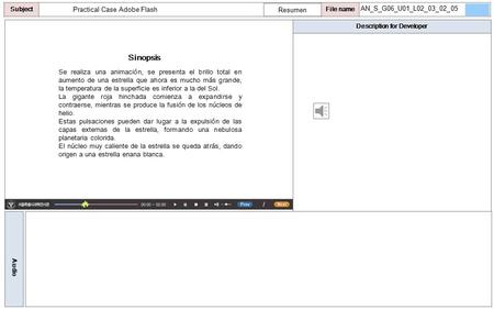 Description for Developer Audio SubjectLO File name Practical Case Adobe Flash Sinopsis Resumen Se realiza una animación, se presenta el brillo total.