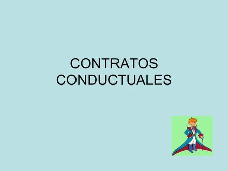 CONTRATOS CONDUCTUALES