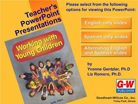 Chapter 28 Programs for Infants and Toddlers Capitulo 28 Programas para Infantes y Niños Pequeños.