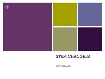 + STEM CHANGERS SRTA. PHILLIPS. + Stem Changing Verbs Some verbs in Spanish are called stem-changing verbs. All forms except the nosotros and vosotros.