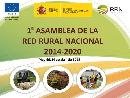 1 ª ASAMBLEA DE LA RED RURAL NACIONAL 2014-2020 Madrid, 14 de abril de 2015.