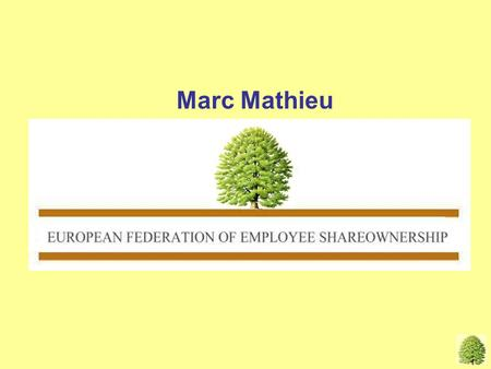 Marc Mathieu MM, EFES EN. Graph first year plans EUROPEAN GROUPS HAVING EMPLOYEE SHARE PLANS.