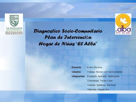Diagnostico Socio-Comunitario Plan de Intervención