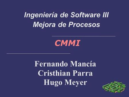 Ingeniería de Software III