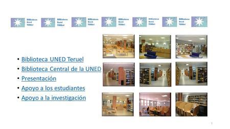 La biblioteca como instrumento de apoyo a la docencia y la for Uned biblioteca catalogo