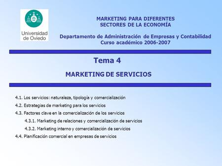 Tema 4 MARKETING DE SERVICIOS