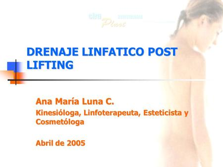 DRENAJE LINFATICO POST LIFTING