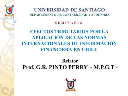 Prof. G.R. PINTO PERRY - M.P.G.T -
