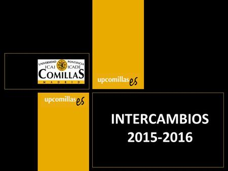 INTERCAMBIOS 2015-2016.