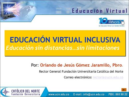 EDUCACIÓN VIRTUAL INCLUSIVA