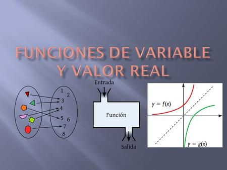 FUNCIONES DE VARIABLE Y VALOR REAL
