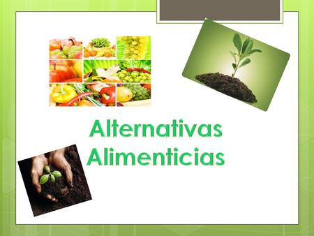 Alternativas Alimenticias.