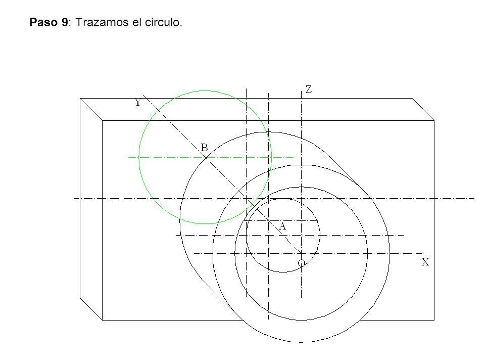 Paso 10: Trazamos los ejes laterales y los círculos mayores.