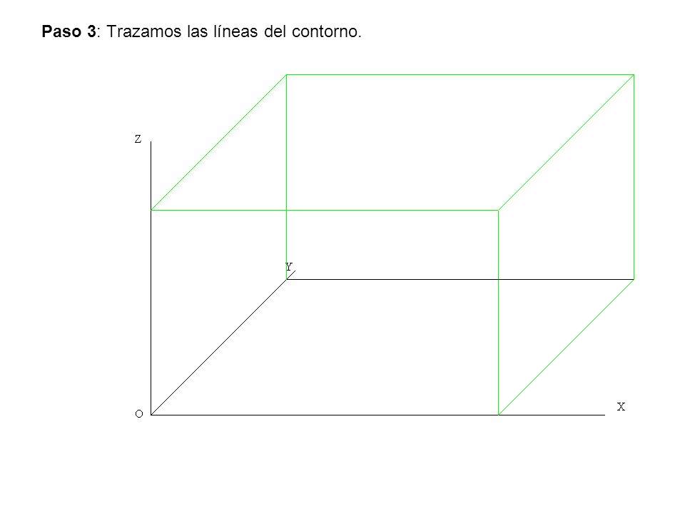 Paso 4: Trazamos el eje de simetría los círculos y las aristas.