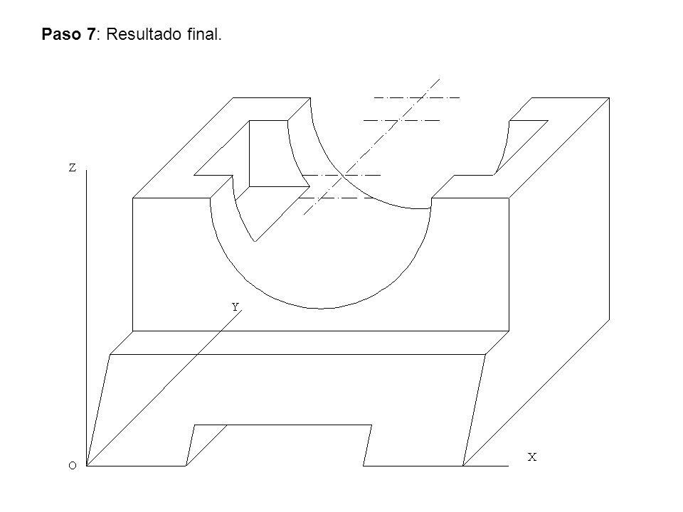 Ejercicio Nº 4.- Dibuja utilizando la escala gráfica representada, la perspectiva caballera de la pieza dada por sus vistas.
