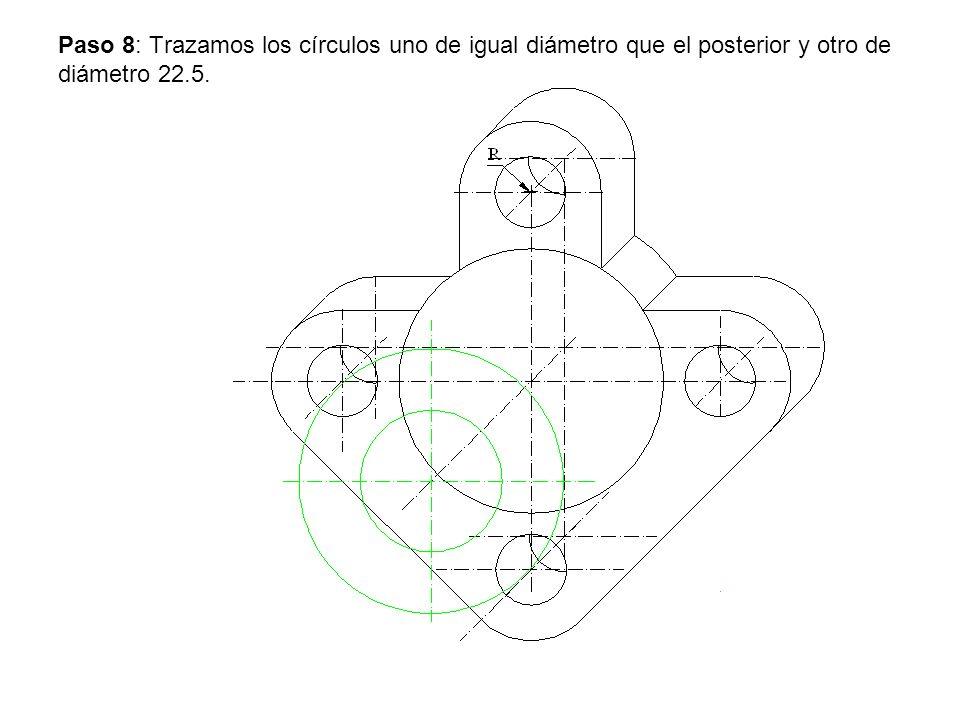 Paso 9: Trazamos las tangentes a los círculos.