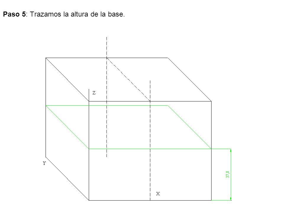 Paso 6: Llevamos la anchura de la parte superior.