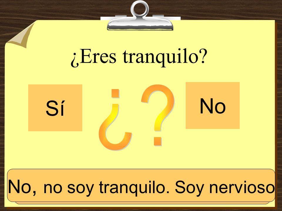 ¿Eres español? Sí No Sí, soy español.No, no soy español.