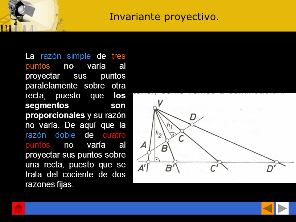 Invariante proyectivo.
