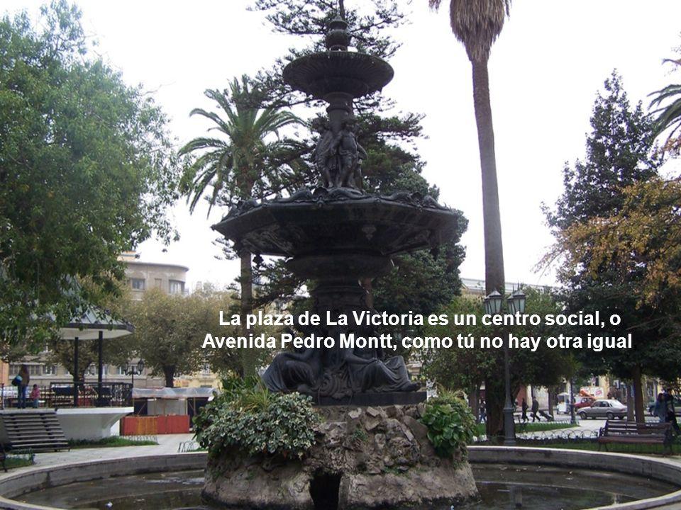 La plaza de La Victoria es un centro social, o Avenida Pedro Montt, como tú no hay otra igual,
