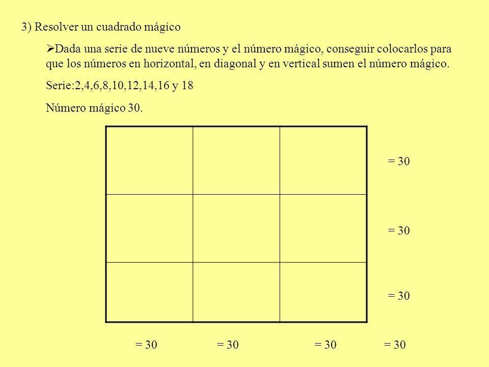 CUADRADO MÁGICO Pasos para construir cuadrados mágicos de 3X3 para la serie del 1 al 9.