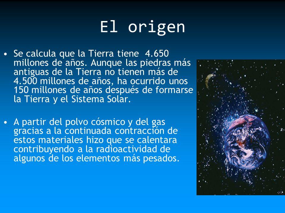 En la etapa siguiente, cuando la Tierra se hizo más caliente, comenzó a fundirse bajo la influencia de la gravedad, es decir, esto produjo la diferenciación entre la corteza, el manto y el núcleo.