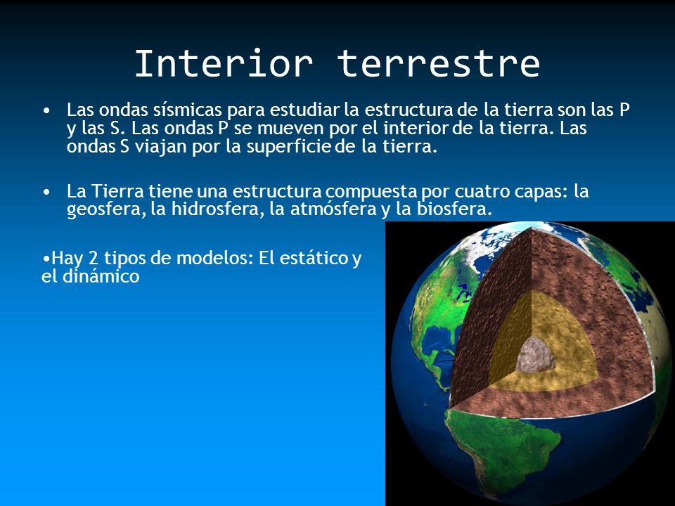 modelo estático: Corteza: Es la capa más superficial y tiene un espesor que varía entre los 12Km.