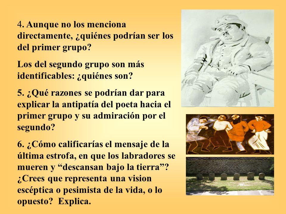 Soledades II de Antonio Machado, España, 1903, He andado muchos caminos Temas: a) carpe diem y memento mori – el tiempo y sus mudanzas, b) la fe y la razón, la justicia divina y la vida, c) lecciones de la vida y repudio del error