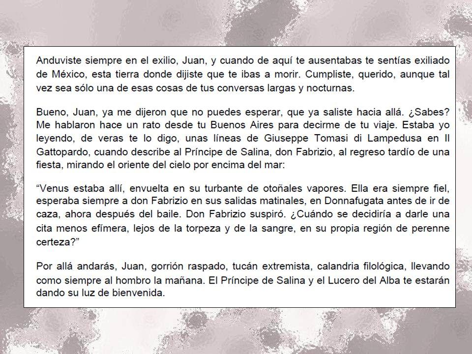 Jose Emilio Pacheco, el gran poeta mexicano, escribio estas palabras el 19 de Enero, 2014.