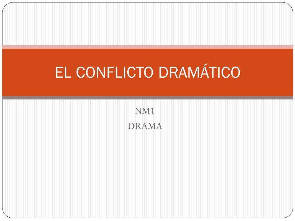CONFLICTO DRAMÁTICO El conflicto se define como una tensión entre las fuerzas que se oponen; estas fuerzas son portadas por agentes y llevan a una crisis.