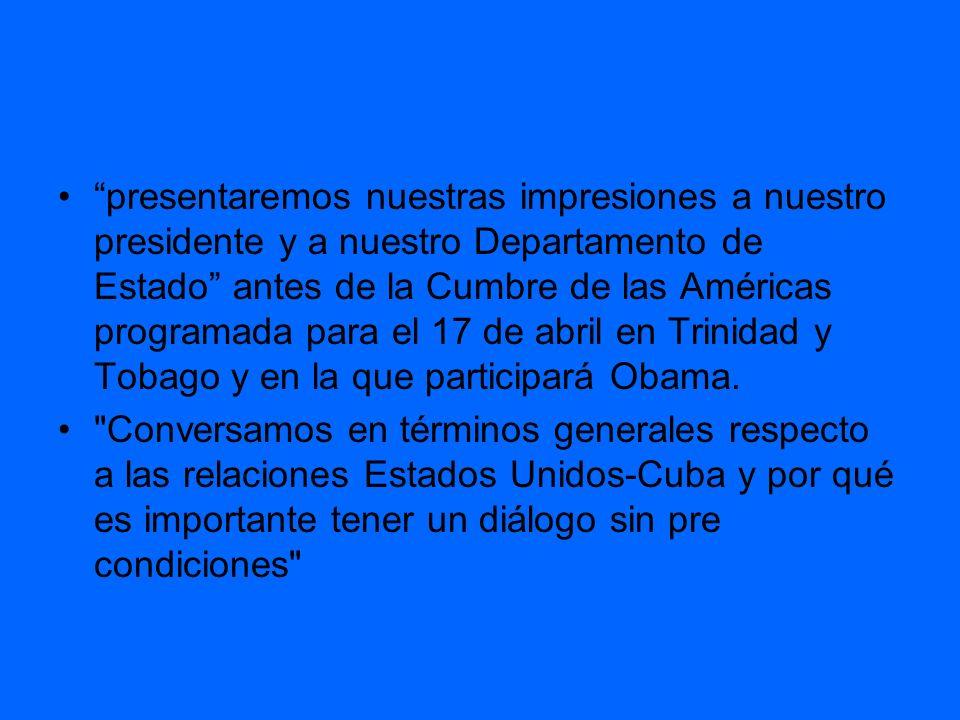 Según reportes de la prensa estadounidense, Obama eliminaría pronto las restricciones a viajes y envíos de remesas de cubano estadounidenses a Cuba, quizás antes de la cumbre.