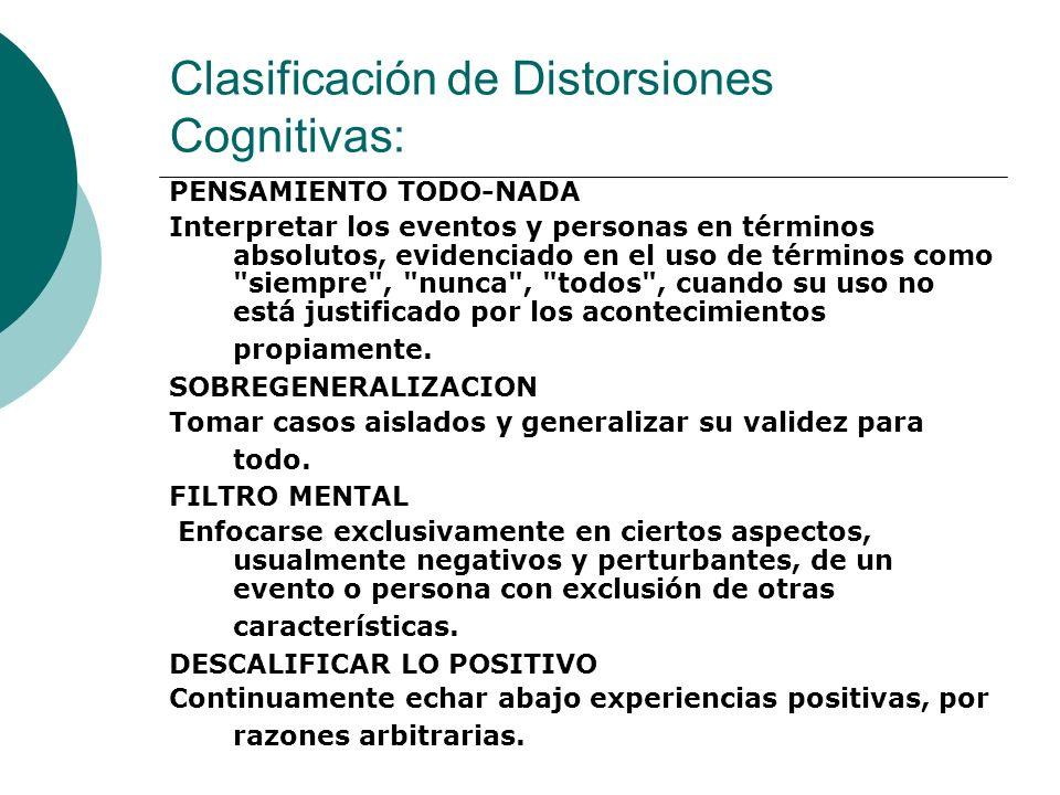 - INFERENCIAS ARBITRARIAS: SACAR CONCLUSIONES DE UNA SITUACION QUE NO ESTA RESPALDADA POR HECHOS, HAY DOS SUBTIPOS LECTURA DE PENSAMIENTO Y ADIVINACION.