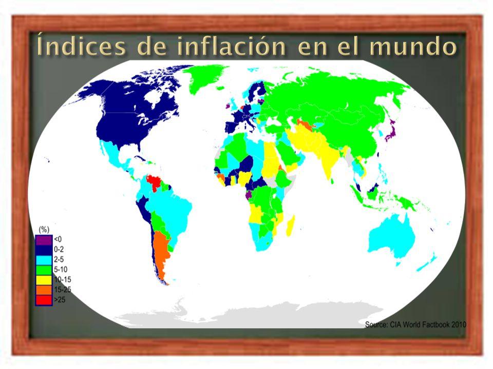 El índice de precios de consumo (IPC): Es un índice en el que se valoran los precios de un conjunto de productos (conocido como canasta familiar ) El deflactor del producto interno bruto (PIB): Es una medida macroeconómica que expresa el valor monetario de la producción de bienes y servicios de demanda final de un país durante un período determinado de tiempo.