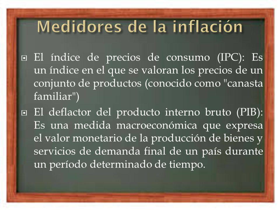 Inflación de demanda : Se da cuando la demanda de bienes y servicios es mayor que la oferta de bienes y servicios.