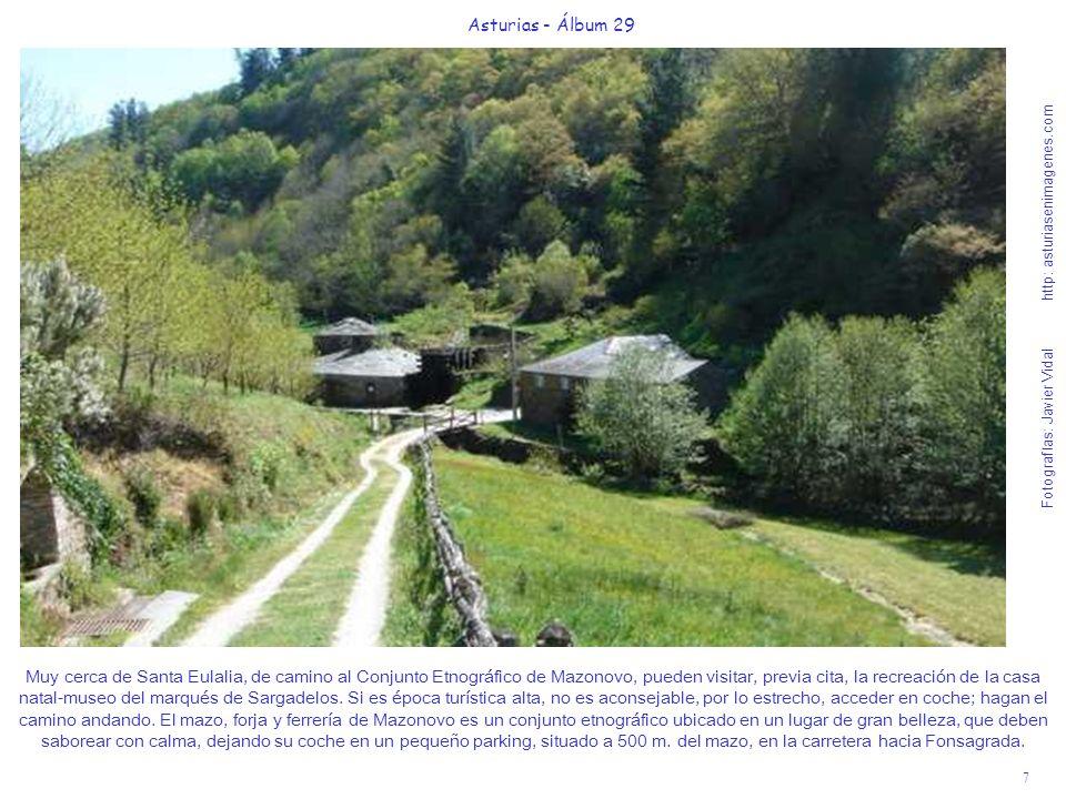8 Asturias - Álbum 29 Fotografías: Javier Vidal http: asturiasenimagenes.com En la plaza de San Martín de Oscos, junto a su iglesia y hórreo con techo de paja (teito) está el emblemático Hotel-Restaurante La Marquesita.