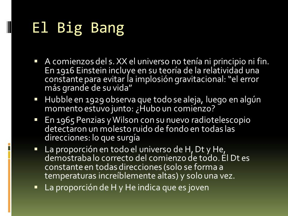¿Qué había antes del Big Bang.