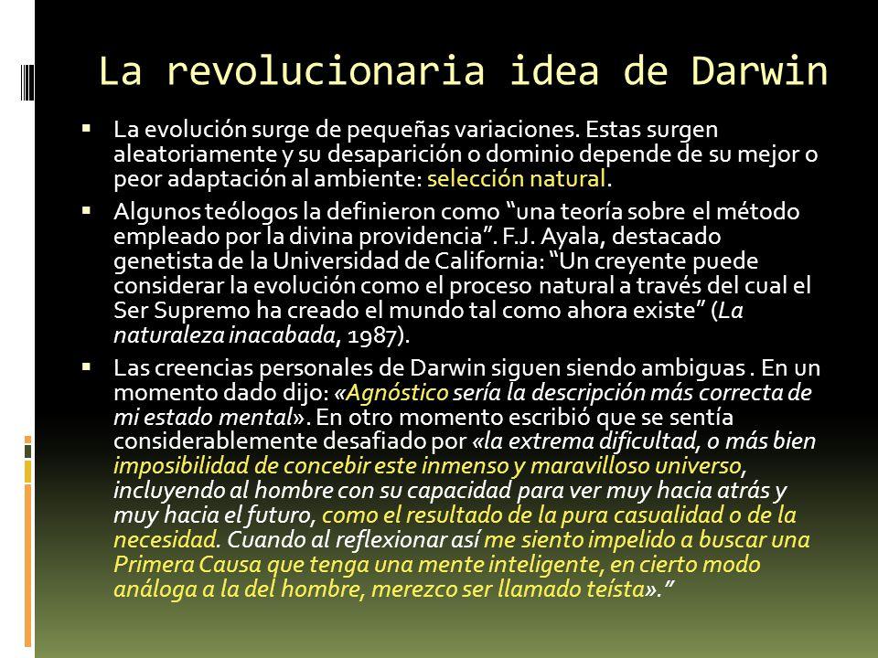 ADN, el material hereditario La visión de Darwin chocaba con el cómo funcionaba la selección natural: ¿Cómo se podrían trasmitir las modificaciones positivas a la descendencia.