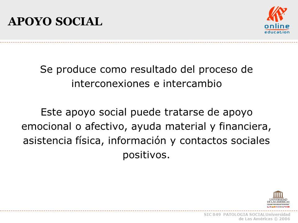 SIC 849 PATOLOGIA SOCIALUniversidad de Las Américas © 2006 TIPOLOGIAREDES TIPOLOGIA de REDES Red Sujetiva(RS) Red Sujetiva(RS) Red Operativa(RO) Red Operativa(RO) Red de Lideres de Opinion(ROL) Red de Lideres de Opinion(ROL) Red de Recursos Comunitarios(RRC) Red de Recursos Comunitarios(RRC) Redes Interinstitucionales(RI) Redes Interinstitucionales(RI)
