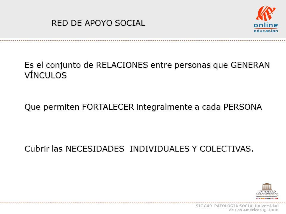 SIC 849 PATOLOGIA SOCIALUniversidad de Las Américas © 2006.