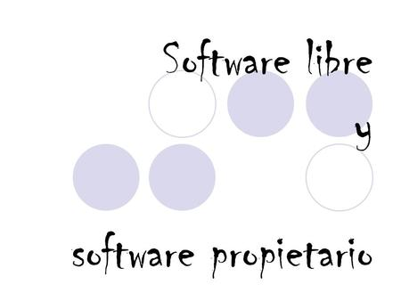 Software libre y software propietario
