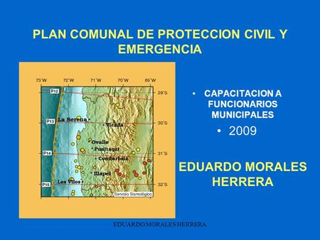 PLAN COMUNAL DE PROTECCION CIVIL Y EMERGENCIA
