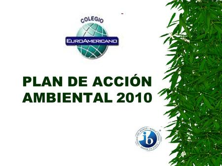 PLAN DE ACCIÓN AMBIENTAL 2010