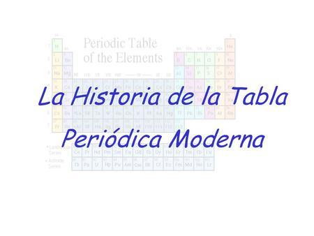 Tabla peridica ppt descargar la historia de la tabla peridica moderna urtaz Gallery