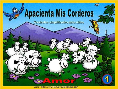 "Tomado del curso de memorización ""Apacienta Mis Corderos"" Aurora Productions AG Switzerland. All rights reserved. Arte por Zeb Gepetto Copyright © 2008."
